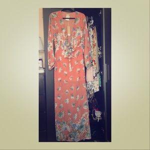 New w tag maxi floral cutout dress